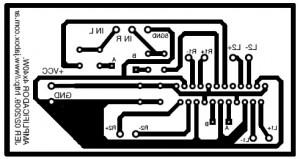 Amplificador para el Auto - Circuito impreso