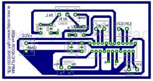 Amplificador para el auto - Impreso con componentes