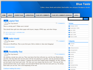 Blue Taste Wordpress Theme